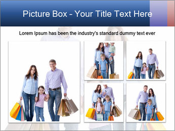 Family Members Carrying Shopping Bags PowerPoint Templates - Slide 19