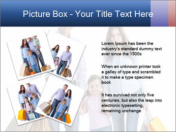 Family Members Carrying Shopping Bags PowerPoint Templates - Slide 23