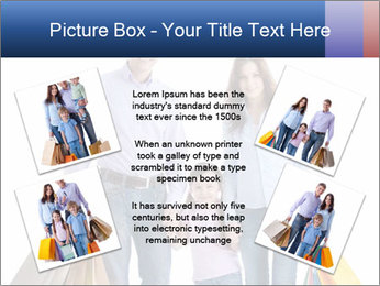 Family Members Carrying Shopping Bags PowerPoint Templates - Slide 24