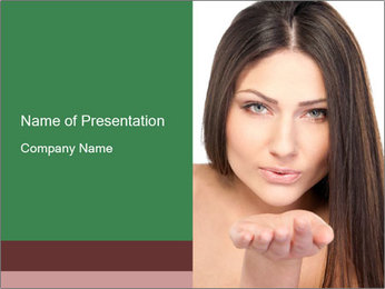 Lovely Air Kiss PowerPoint Template