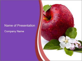 Apple Blossom PowerPoint Templates - Slide 1