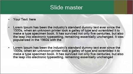 Camomiles Reflecting in Binoculars PowerPoint Template - Slide 2