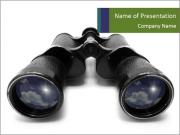 Black Binoculars PowerPoint Templates