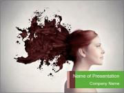 Creative Brown Hair PowerPoint Templates