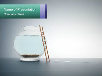Ladder to Glass Fishbowl PowerPoint Template - Slide 1