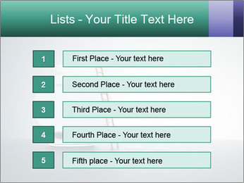 Ladder to Glass Fishbowl PowerPoint Template - Slide 3
