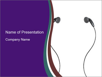 Ipod Earphones PowerPoint Templates - Slide 1