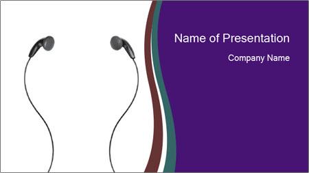 Ipod Earphones PowerPoint Template