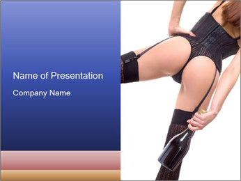 Lady Wearing Sexy Stockings PowerPoint Template - Slide 1