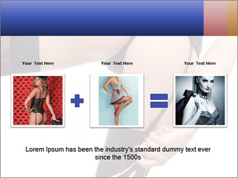 Lady Wearing Sexy Stockings PowerPoint Template - Slide 22