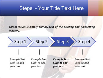 Lady Wearing Sexy Stockings PowerPoint Template - Slide 4
