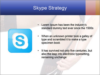 Lady Wearing Sexy Stockings PowerPoint Template - Slide 8