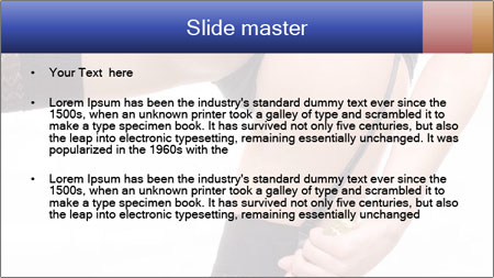 Lady Wearing Sexy Stockings PowerPoint Template - Slide 2
