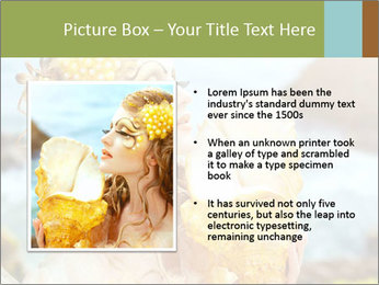 Mermaid with Golden Shell PowerPoint Templates - Slide 13