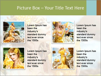 Mermaid with Golden Shell PowerPoint Templates - Slide 14