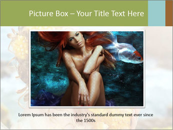 Mermaid with Golden Shell PowerPoint Templates - Slide 15
