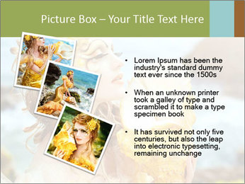 Mermaid with Golden Shell PowerPoint Templates - Slide 17