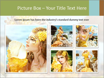 Mermaid with Golden Shell PowerPoint Templates - Slide 19