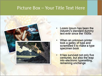 Mermaid with Golden Shell PowerPoint Templates - Slide 20