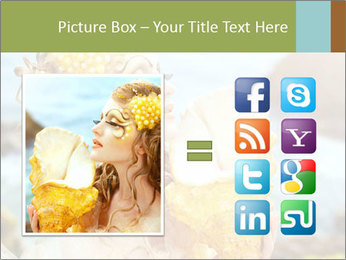Mermaid with Golden Shell PowerPoint Templates - Slide 21