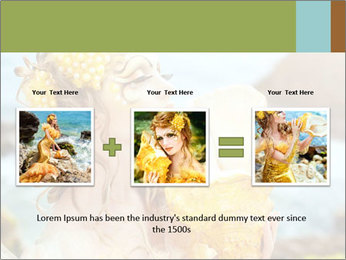 Mermaid with Golden Shell PowerPoint Templates - Slide 22