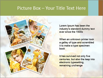 Mermaid with Golden Shell PowerPoint Templates - Slide 23