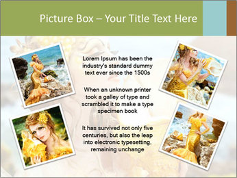 Mermaid with Golden Shell PowerPoint Templates - Slide 24