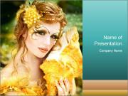 Golden Mermaid PowerPoint Templates