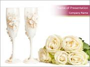 Wedding Grasses and Roses PowerPoint Templates