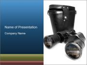 Old-Fashioned Binoculars PowerPoint Templates