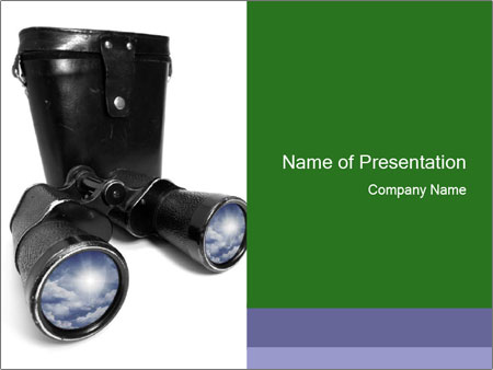 Retro Binoculars PowerPoint Template