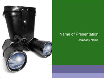 Retro Binoculars PowerPoint Template - Slide 1