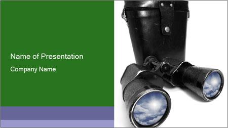 Retro Binoculars PowerPoint Template