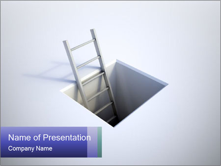 Ladder in Floor Hole PowerPoint Templates