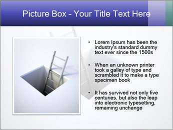 Ladder in Floor Hole PowerPoint Templates - Slide 13
