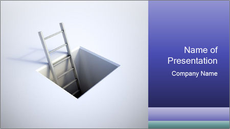 Ladder in Floor Hole PowerPoint Template