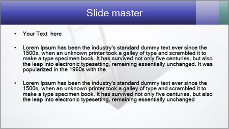 Ladder in Floor Hole PowerPoint Template - Slide 2