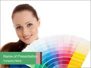 Designer with Color Palette PowerPoint Templates