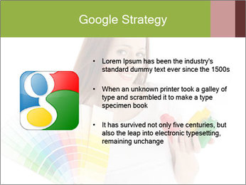 Woman Holding Color Guide PowerPoint Template - Slide 10