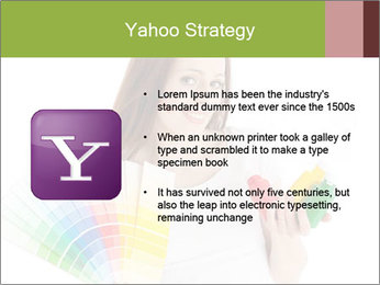 Woman Holding Color Guide PowerPoint Template - Slide 11