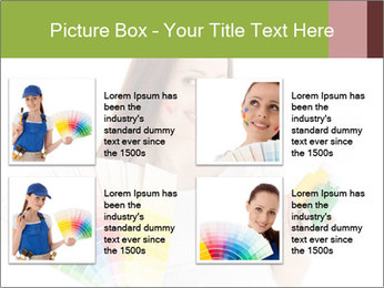 Woman Holding Color Guide PowerPoint Template - Slide 14