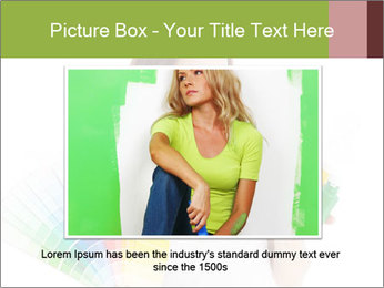 Woman Holding Color Guide PowerPoint Template - Slide 15