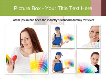 Woman Holding Color Guide PowerPoint Template - Slide 19