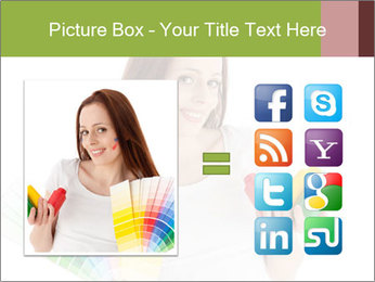Woman Holding Color Guide PowerPoint Template - Slide 21