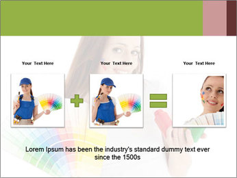 Woman Holding Color Guide PowerPoint Template - Slide 22