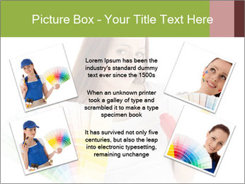 Woman Holding Color Guide PowerPoint Template - Slide 24