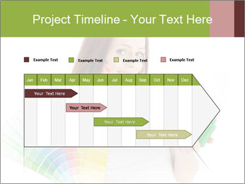 Woman Holding Color Guide PowerPoint Template - Slide 25