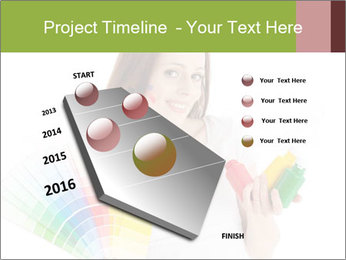 Woman Holding Color Guide PowerPoint Template - Slide 26
