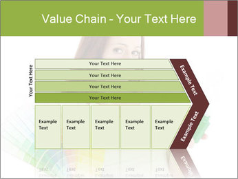 Woman Holding Color Guide PowerPoint Template - Slide 27