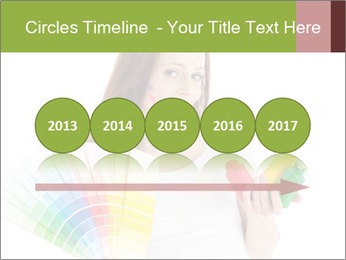 Woman Holding Color Guide PowerPoint Template - Slide 29